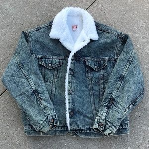 Vintage Levi's Sherpa Jean Jacket Made In USA